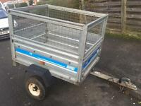 Maypole galvanised tipping trailer + mesh sides