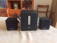 Mini speaker/Woofer system