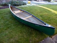 Old Town Pack 12 foot Canadian canoe with ash and reed seat and accessories. EXCELLENT CONDITION