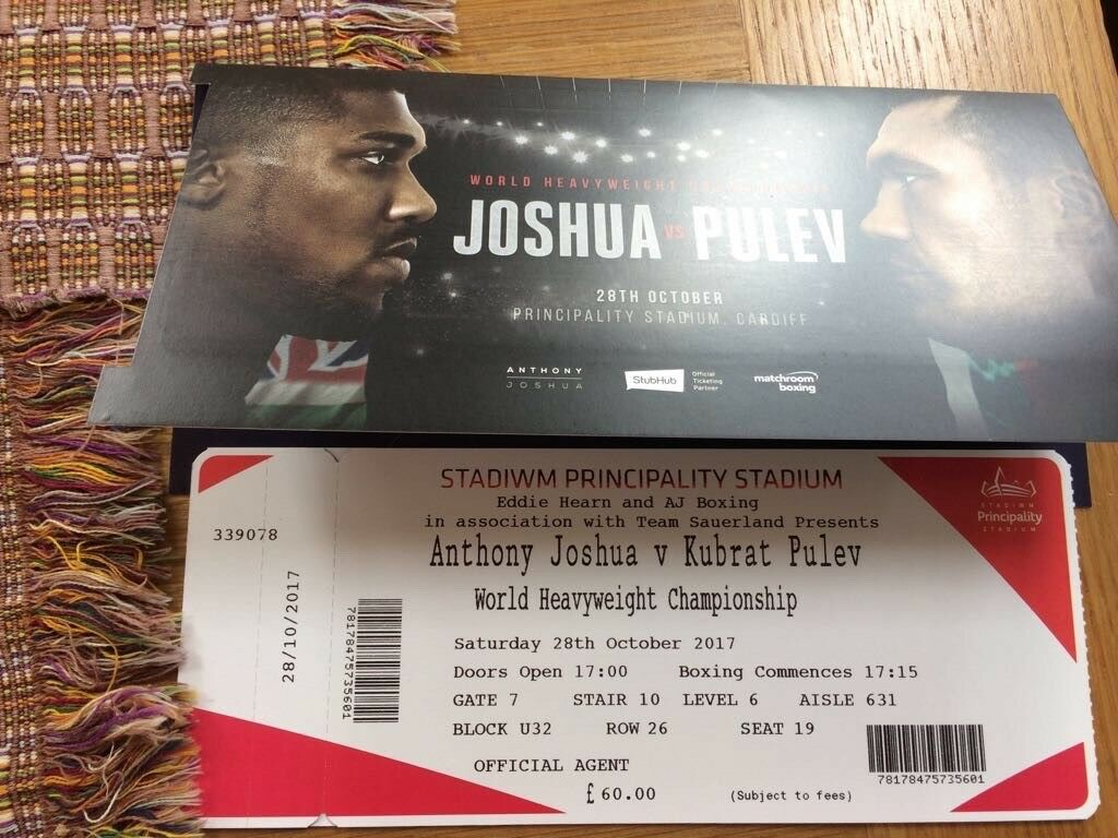 AJ vs Pulev - 6 Tickets Available