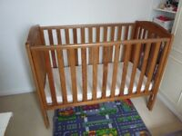 Mothercare Takeley Cot Antique Pine Good Condition- good condition