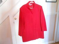 Ladies Wool Red Coat size 16