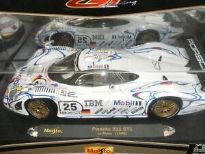 porsche 911 gt1 le mans 1998 25 1 18 scale maisto gt racing art collec. Black Bedroom Furniture Sets. Home Design Ideas