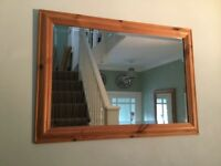 Solid Pine Bevelled Mirror H25in/63cmW35in/88cm