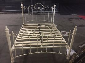 White Metal Twin Bed / Childs Bed