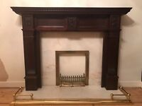 Marble fireplace & surround