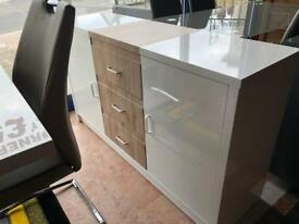 Ex-display**Beautiful white gloss sideboard - delivery available