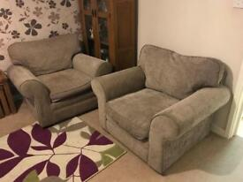2xsingle seater sofas