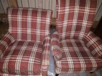 Grandfather and grandmother fireside chairs