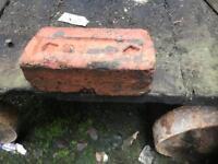 Red reclaimed bricks