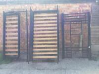 Triple sleeper bunk black bed metal frame
