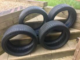 Set of 4 Michelin pilot sport 4 tyres 235 40 r18