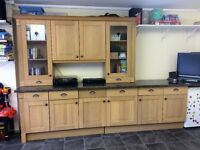 Timber Oak Kitchen units for sale