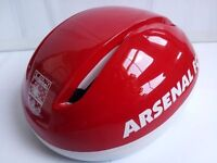 (2509) NEW, ARSENAL FC LIGHTWEIGHT CYCLING HELMET ADULT YOUTH BIKE BICYCLE HELMET SIZE: L, 57-60cm