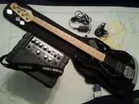OnNearOffer Sterling By MusicMan Sub Ray 5 string + Roland Micro Cube Bass RX Amp
