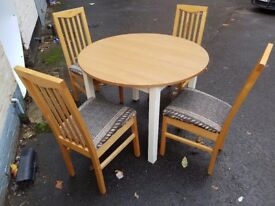Round dining table and 4 chairs. FREE delivery in Derby