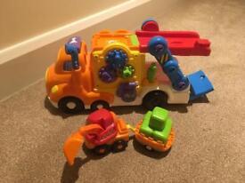 Vtech Toot Toot car carrier and digger