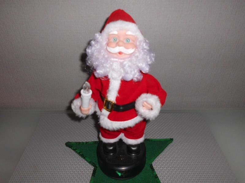 s er weihnachtsmann spielt weihnachtslieder kerze beleuchtet in niedersachsen emden ebay. Black Bedroom Furniture Sets. Home Design Ideas