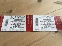 2 x U2 The Joshua Tree Tour tickets