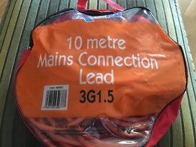 10 metre mains connection lead for caravans