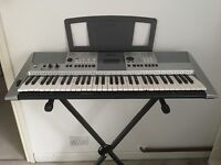 YAMAHA ELECTRIC KEYBOARD, STAND and MUSIC HOLDER