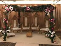King and Queen Throne Chair Hire £199