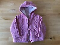 Bundle of baby cardigans and fleece: sizes 6 to 12 months