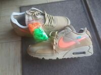 Off white nike air max 90 desert ore trainers