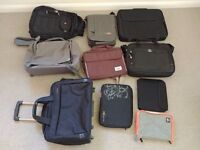 Laptop bag backpack shoulder bag sleeve suitcase trolley - 9 cases big collection in 1 sale