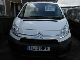 CITROEN Dispatch 1000 H1L1 HDi Panel Van, 1.5 Diesel, 56,000 miles, 3 Seats, Twin Side Loading Doors