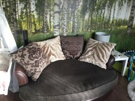 Dfs large sofa and love seat
