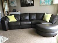 Dark brown corner sofa from smoke free home very good condition