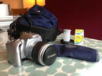 Canon EOS 300v film camera - body & 35mm lens - carry case & accessories - Cokin filter system £100