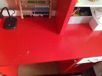 Red white desk ikea good condition
