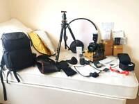 NIKON D5300 24.2MP Digital SLR. Complete full set up sold alltogether, shutter count 3956