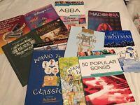Piano books - mixture- Disney, Madonna, LOTR
