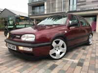 1995 VOLKSWAGEN GOLF 2.8 VR6 174 BHP MANUAL RARE COLOUR BEAUTIFUL EXAMPLE FULL MULBERRY LEATHER