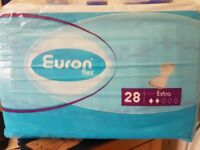****Clearance**** Euron incontinence pads, now 3 packs for £10
