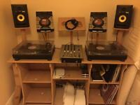 DJ stand (equipment not included)