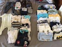Baby boys clothes bundle 96 pieces (0-3 Month)