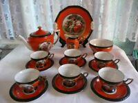 Vintage Tea Set depicting Courting Couples