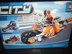 City Lego Truck and Bike