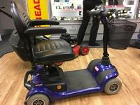 HS-295 Blue mobility scooter with charger & key