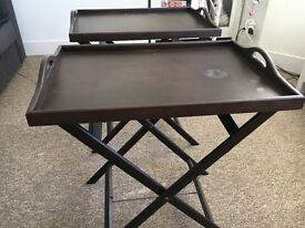Foldable coffee tables x 2