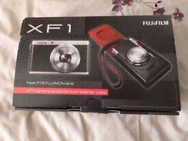 Fujifilm XF1 digital camera and premium leather case