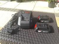 Bosch 18v battery charger plus 2 x 1.5ah batteries