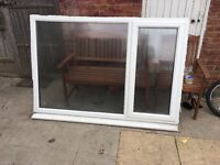 Double glazing window with outer sill and key
