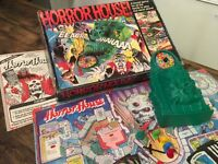 VINTAGE 1970,s HORROR HOUSE BOARD GAME COMPLETE