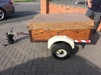 small trailer 4x3 including cover and spare wheel ... excellent
