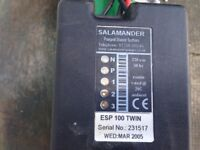 SALAMANDER ESP 100 TWIN SHOWER PUMP,USED